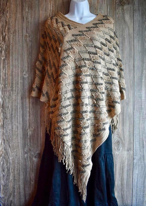 Fun zig zag ponchos with fringe!