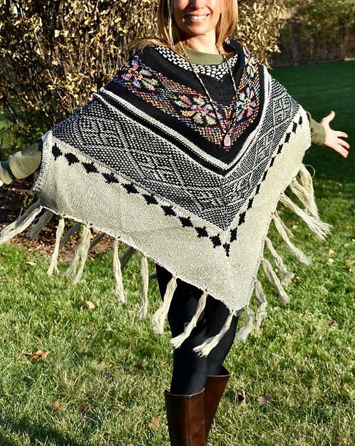 Metallic Tribal Ponchos with Fringe! LOVE these!