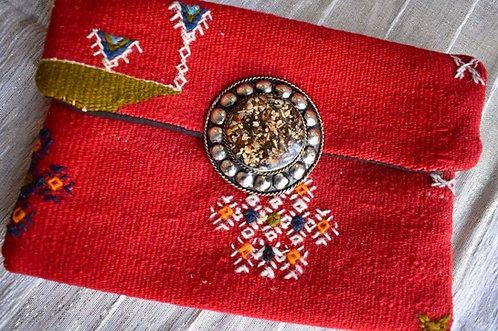 Moroccan Carpet Clutch Purse