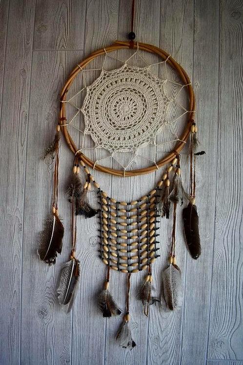 Tribal Beaded Feathered Dream Weaver