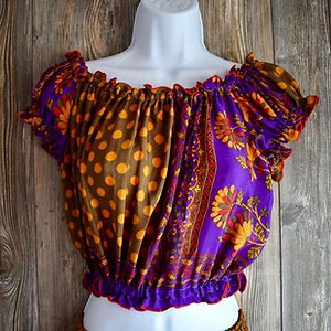 tops for her,women's tops, gypsy clothig, gypsy tops, colorful tops, ruffled tops, boho tops
