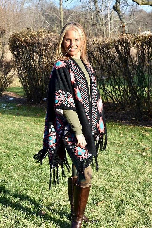 Tribal Poncho Cardigan Sweater!