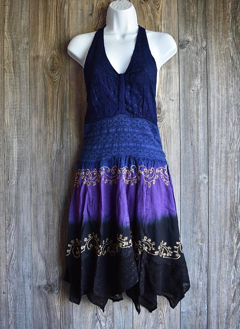 Fun Dress with Lace and Embroidery with jagged edges