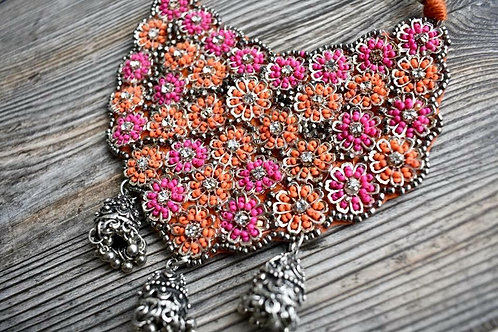 Intricate Beaded Necklace Choker