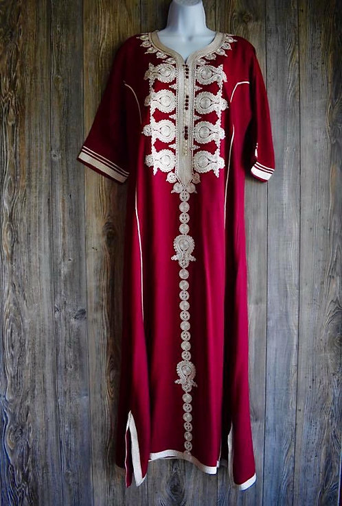 Moroccan Kaftan with beads and sequence decorations