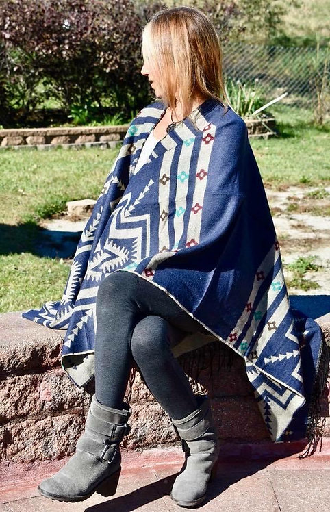 Reversible Tribal Poncho Cardigans!