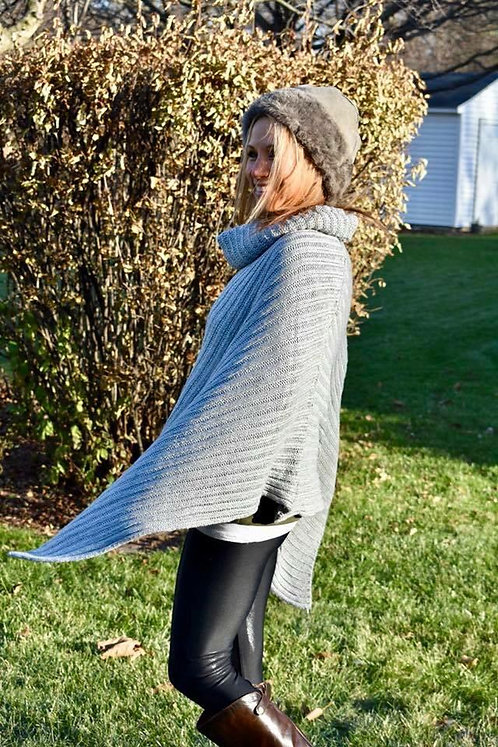 Thick Ribbed Turtleneck Ponchos!