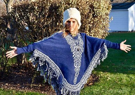 Fringe Tribal ponchos with sleeves!