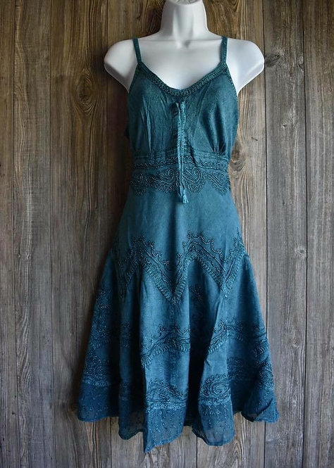 Beautiful Dress With Metallic Embroidery