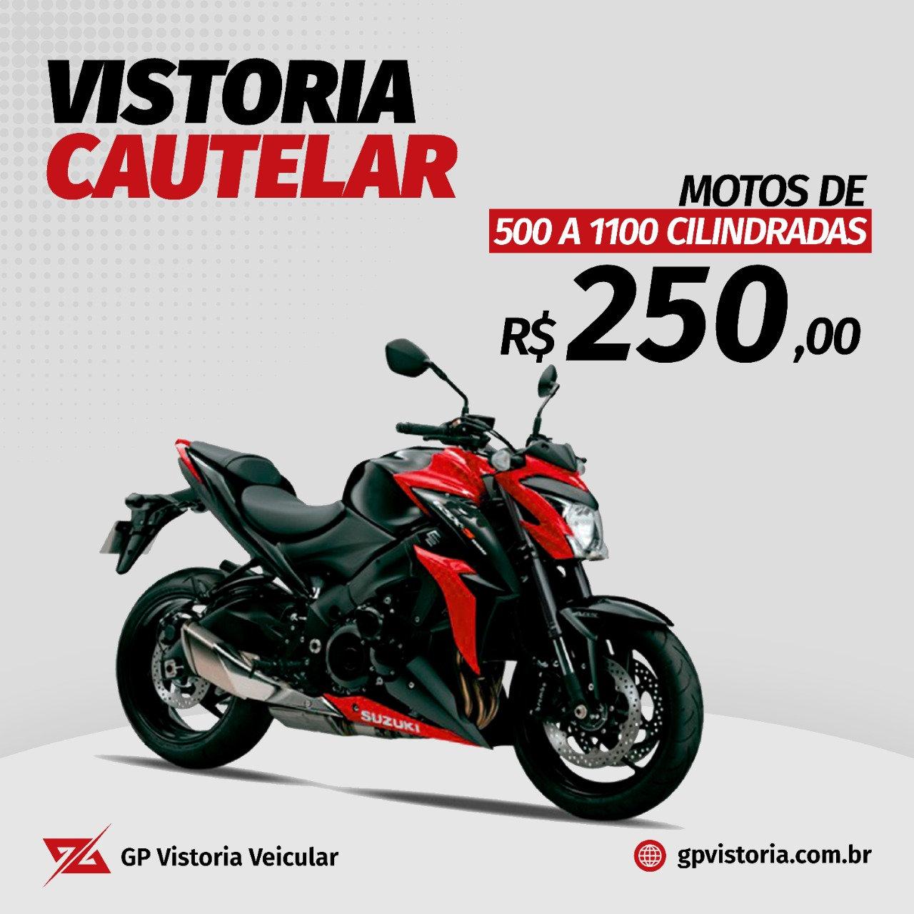 Cautelar de Motos 500 a 1100 Cilindradas