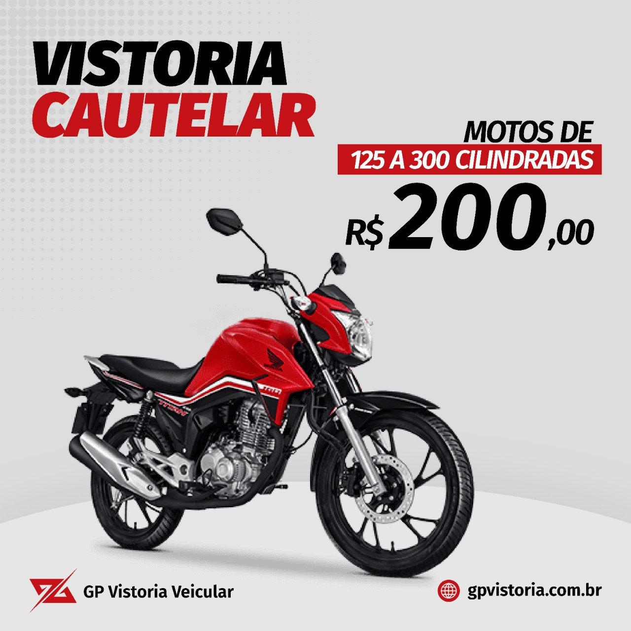 Vistoria de Moto 125 a 300 Cilindradas
