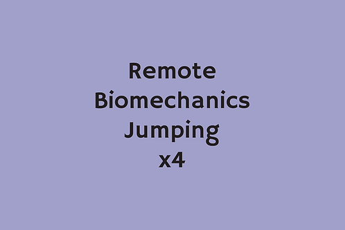 Remote Biomechanics Jumping (x4)
