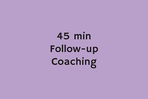 45 min Follow-up Coaching (Centyfield 17/10/20)