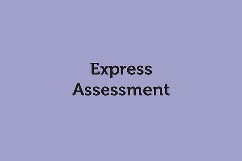 Express Assessment (SOVRC Friday 17/7/20)