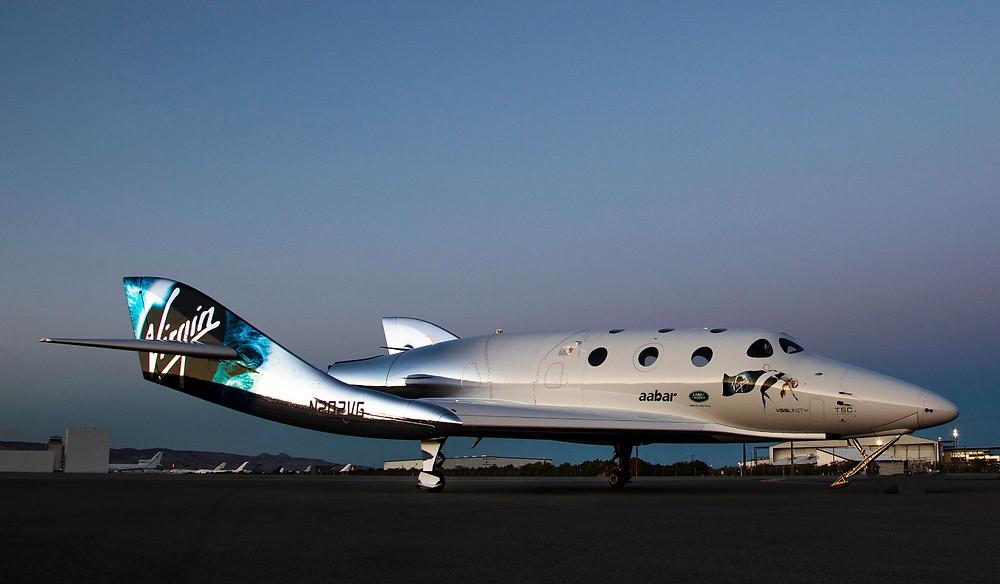 """Das Weltraumflugzeug """"VSS Unity"""" von Virgin Galactic"""