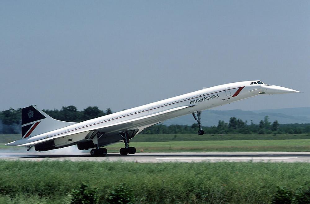 Die Concorde mit ihrer berühmten absenkbaren Nase, damit die Piloten bei der Landung genug sehen