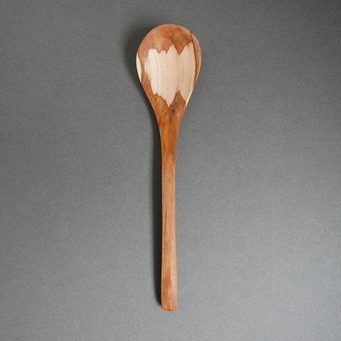long wooden spoon