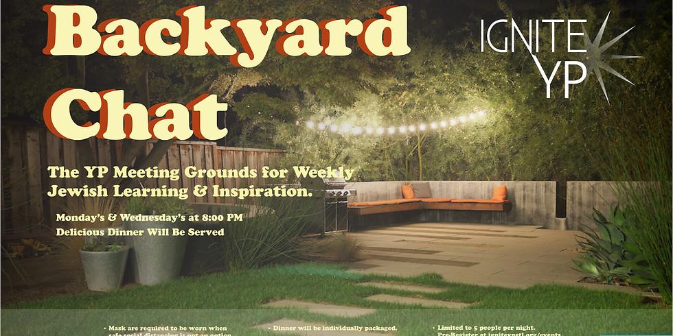 Backyard Chat - WEDNESDAY