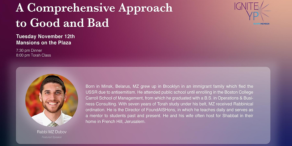 A Comprehensive Approach to Good & Bad