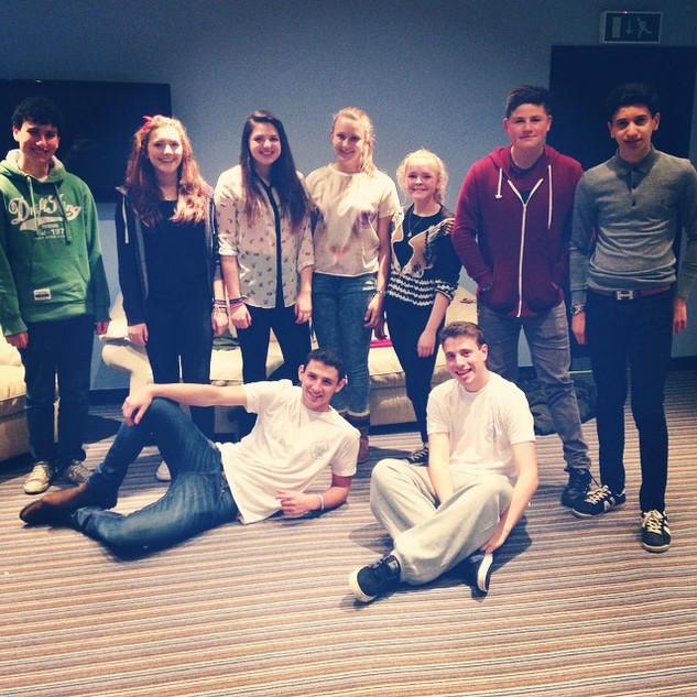 Spot the Glasgow kids...