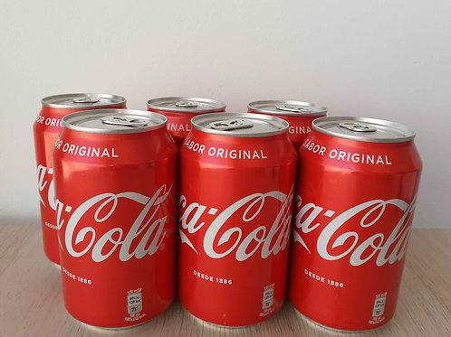 LOTE COCA-COLA (6 latas)