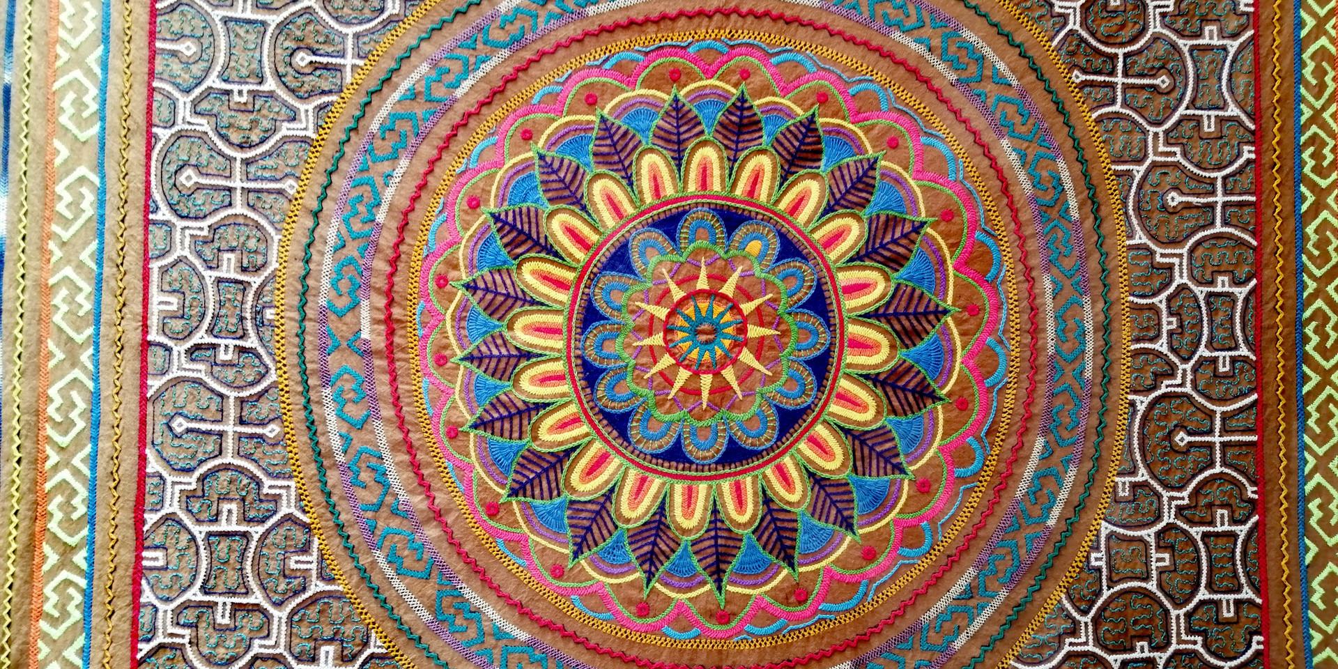 Traditional handmade Shipibo Peru arts