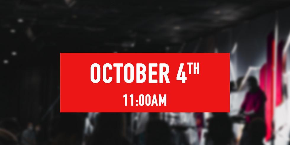 October 4th - 11AM Service