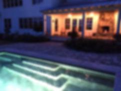 Pool, Patio, Outoor Fireplace Maine