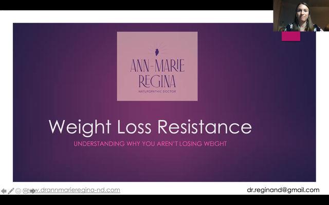 Weight Loss Resistance: Webinar Replay
