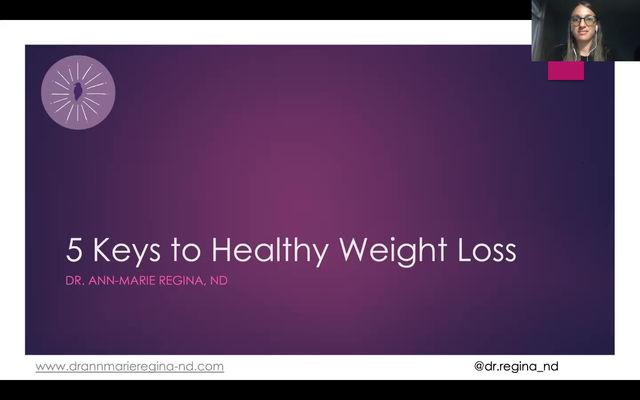 Webinar Replay: 5 Keys for Healthy Weight Loss