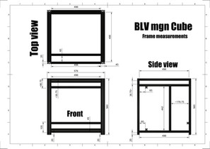BLV mgn Cube- Frame dimensions