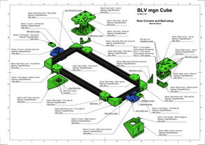 BLV mgn Cube - Z axis and Rear Corners