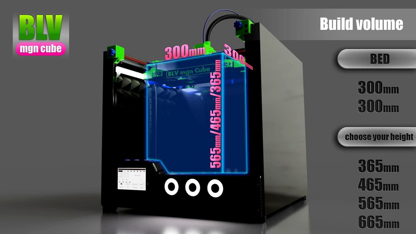 blv mgn cube by ben levi - build volume.
