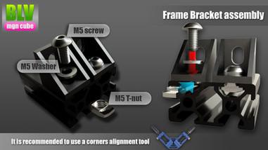 Frame bracket assembly