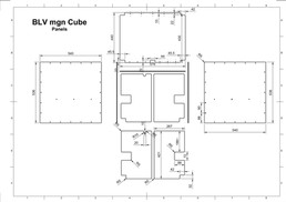 BLV mgn Cube - Panels / Walls dimensions (for full size image - open in a new page or download)