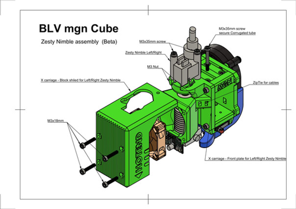 BLV mgn Cube - Zesty Nimble assembly