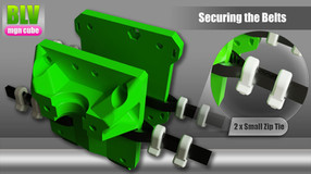 BLV mgn Cube - zip tie clamps