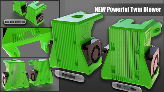 BLV mgn Cube - New twin 4010 blower fan option!