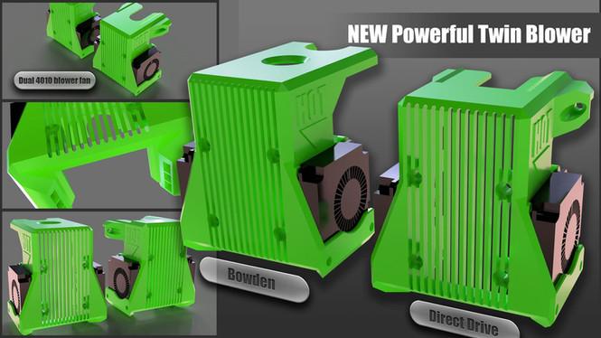 BLV mgn Cube - New twin 4010 blower fan option!