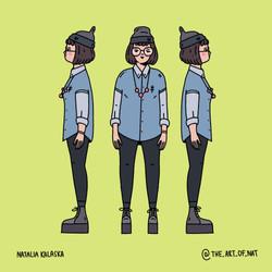 Character turnaround - girl
