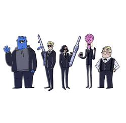 Character line-up - Men in black