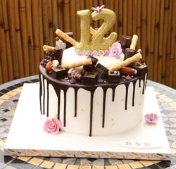 עוגת בת מצווה ממתקי שוקולד