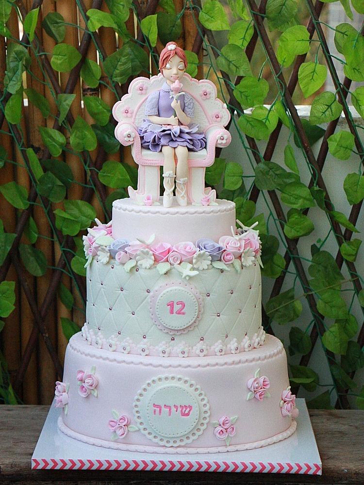 עוגת רקדנית בת מצווה