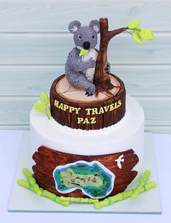 עוגת למטייל לאוסטרליה