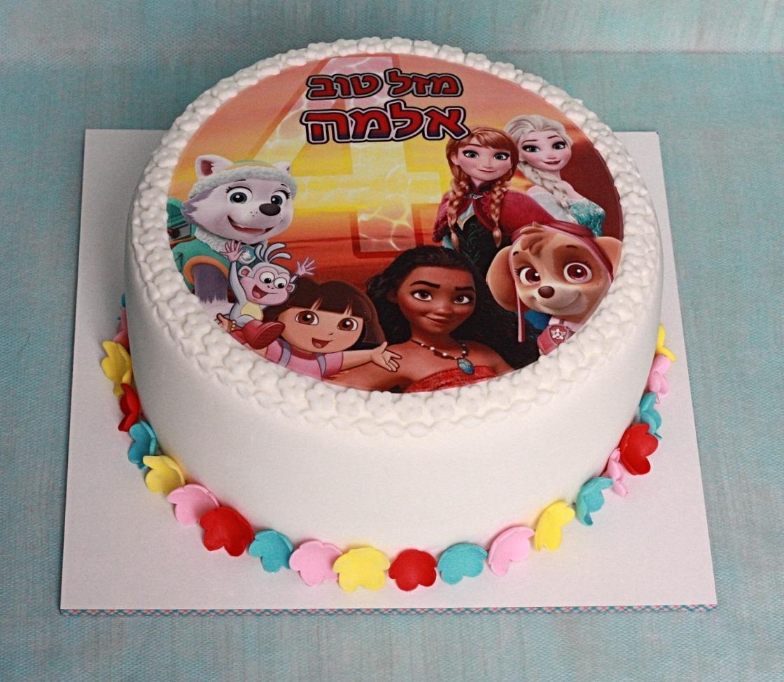 עוגת דמויות מסרטים