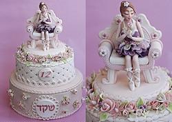 עוגת בת מצווה רקדנית