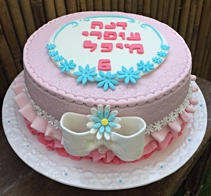 עוגה פרחונית
