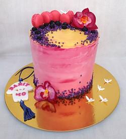 עוגת זילוף ואוכמניות