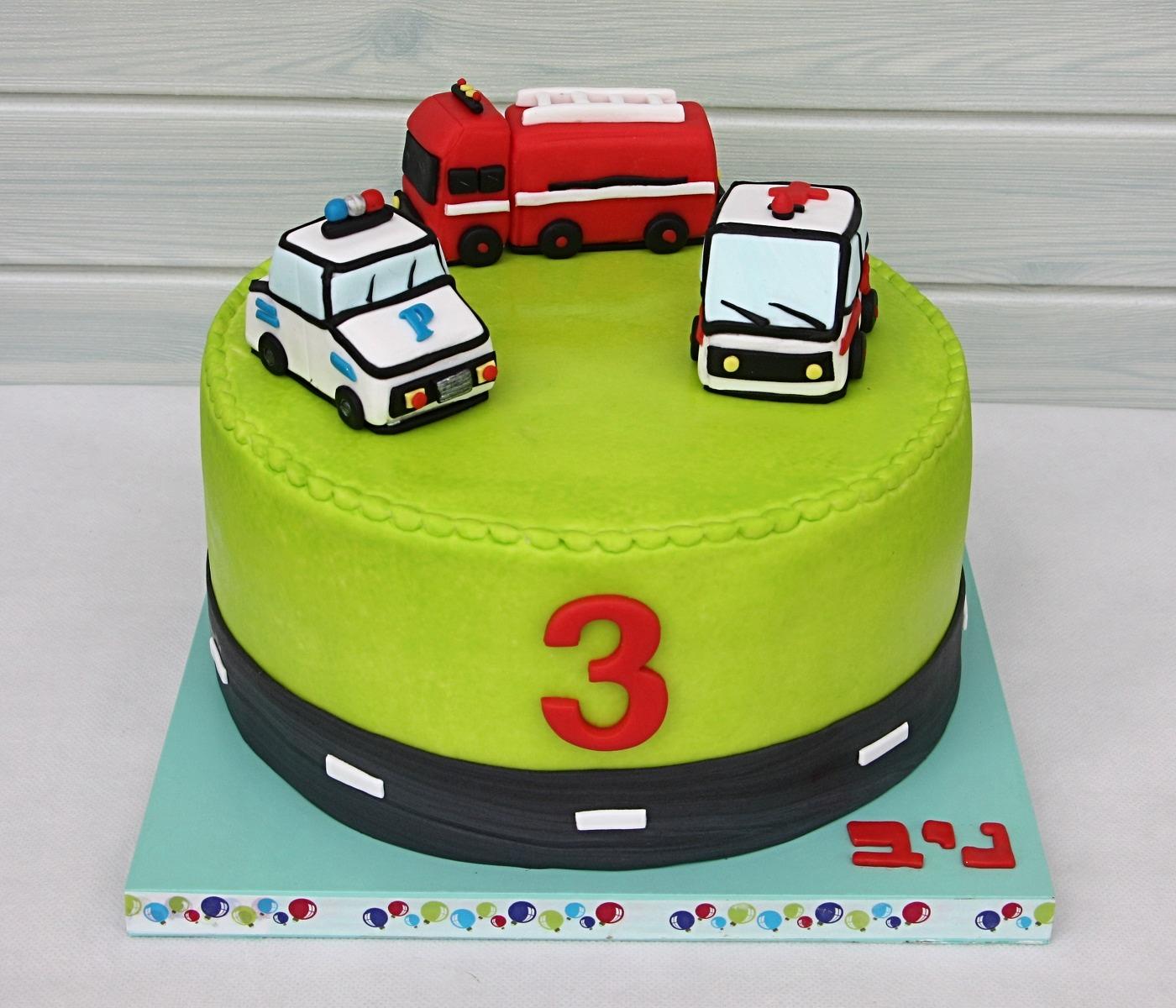 עוגת מכוניות חירום