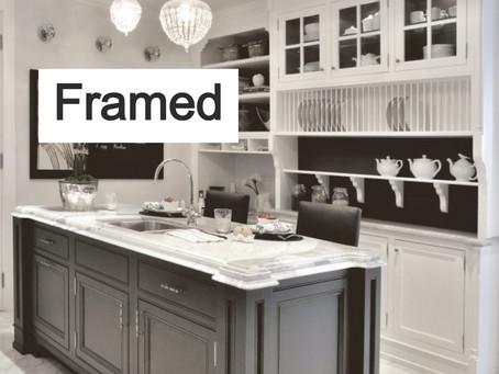 Kitchen cabinet Types: Frameless VS Framed.